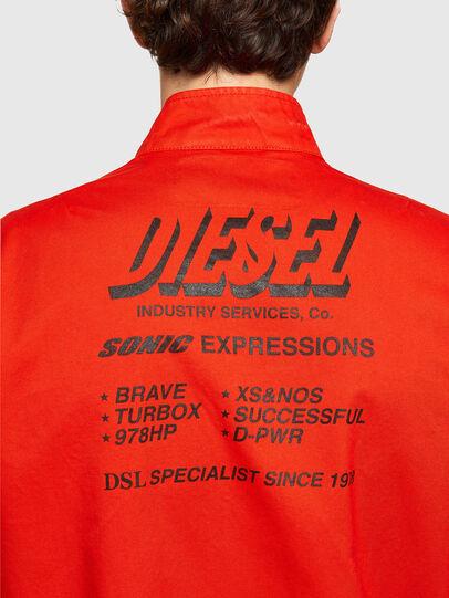 Diesel - J-HALLS-PRINT, Orange - Jackets - Image 4