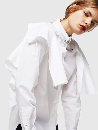 Diesel - C-RAILY-SHAPED, White - Shirts - Image 8