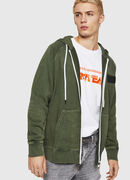 S-GIM-HOOD-ZIP, Dark Green - Sweaters