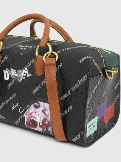 Diesel - TYLEBAG R, Black/Green - Travel Bags - Image 4