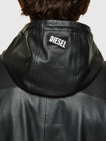 Diesel - L-CIRCLE, Black - Leather jackets - Image 4
