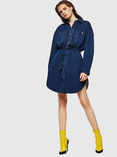 Diesel - D-PINKIES JOGGJEANS, Medium blue - Dresses - Image 5