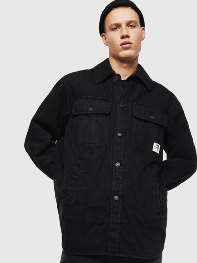 Diesel - D-WELLES, Black - Denim Shirts - Image 1
