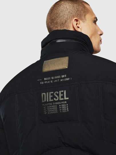 Diesel - W-PETR, Black - Winter Jackets - Image 5