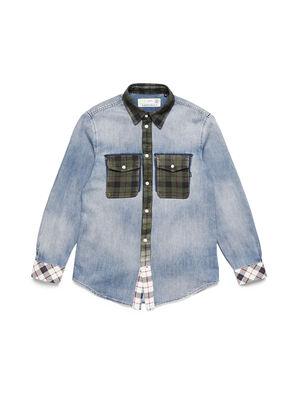 D-DEEPCHECK-A, Light Blue - Denim Shirts
