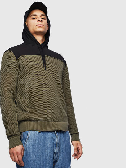 Diesel - K-CONNET, Green/Black - Knitwear - Image 1