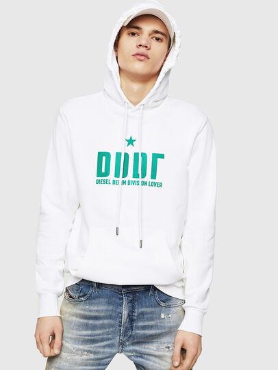 Diesel - S-GIR-HOOD-A1, White - Sweaters - Image 1