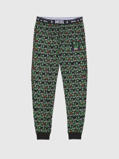 Diesel - UMLB-JULIO, Black/Green - Pants - Image 1