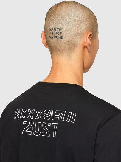 Diesel - CL-T-JUST-LS-O, Black - T-Shirts - Image 5