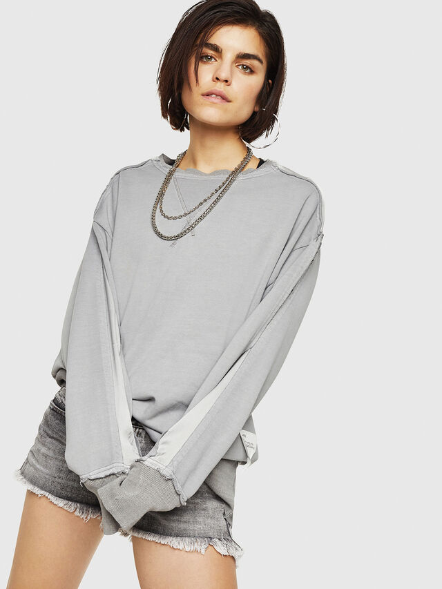 Diesel - F-EVIE, Light Grey - Sweaters - Image 1