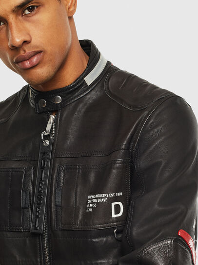 Diesel - L-DIXON, Black - Leather jackets - Image 3