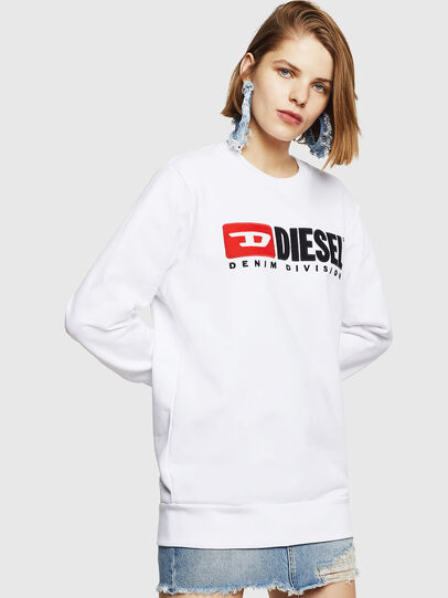 Diesel - F-GIR-DIVISION-FL, White - Sweaters - Image 1