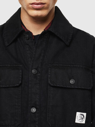 Diesel - D-WELLES, Black - Denim Shirts - Image 4