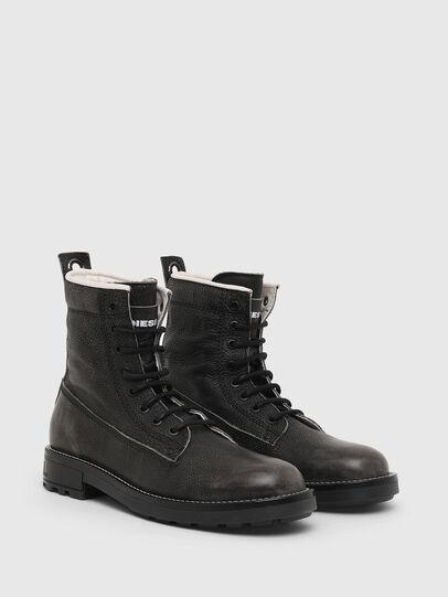 Diesel - D-THROUPER DBB W, Dark grey - Ankle Boots - Image 2