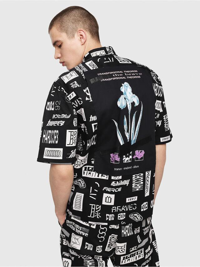 Diesel - S-FRY, Black/White - Shirts - Image 2