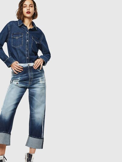 Diesel - D-Reggy 0096S, Medium blue - Jeans - Image 6