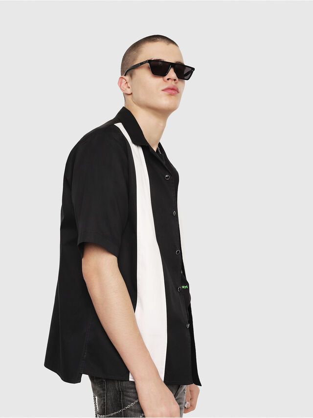 Diesel - S-KINGI, Black/White - Shirts - Image 3