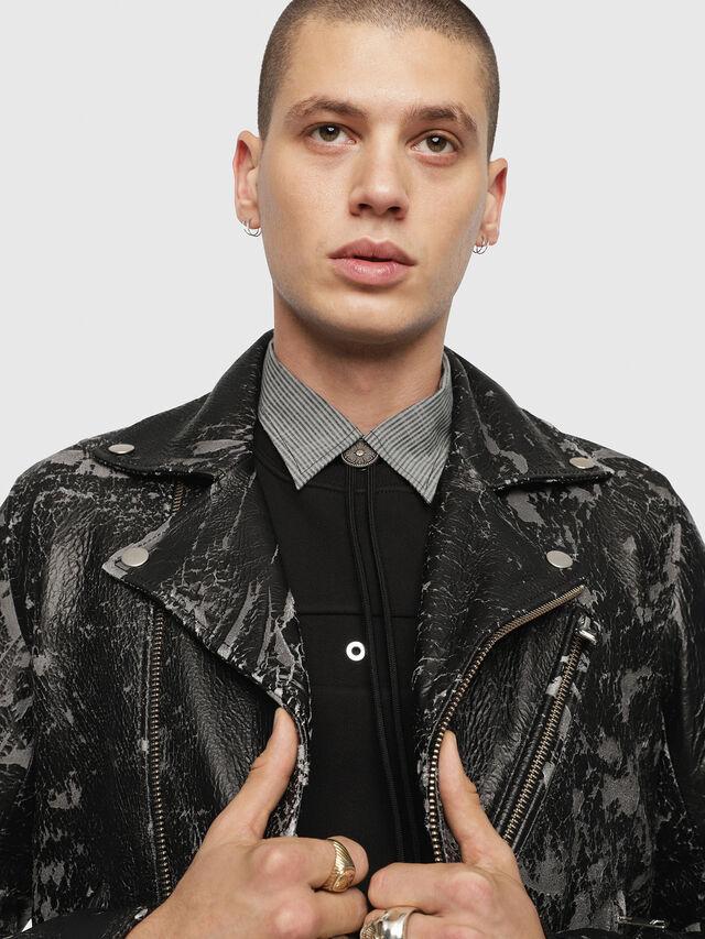 Diesel - L-KRAMPIS-A, Black Leather - Leather jackets - Image 5