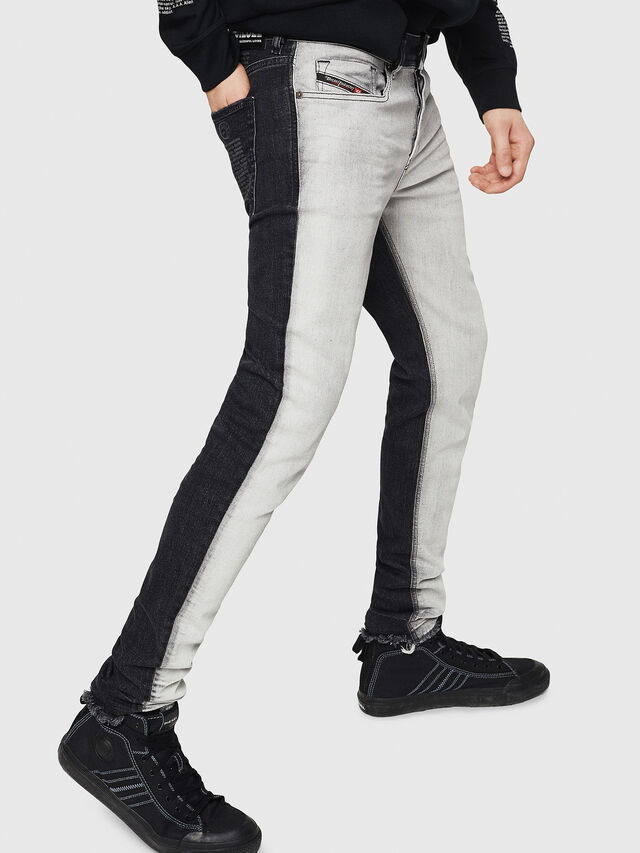 Diesel - Sleenker 082AX, Black/Dark grey - Jeans - Image 4