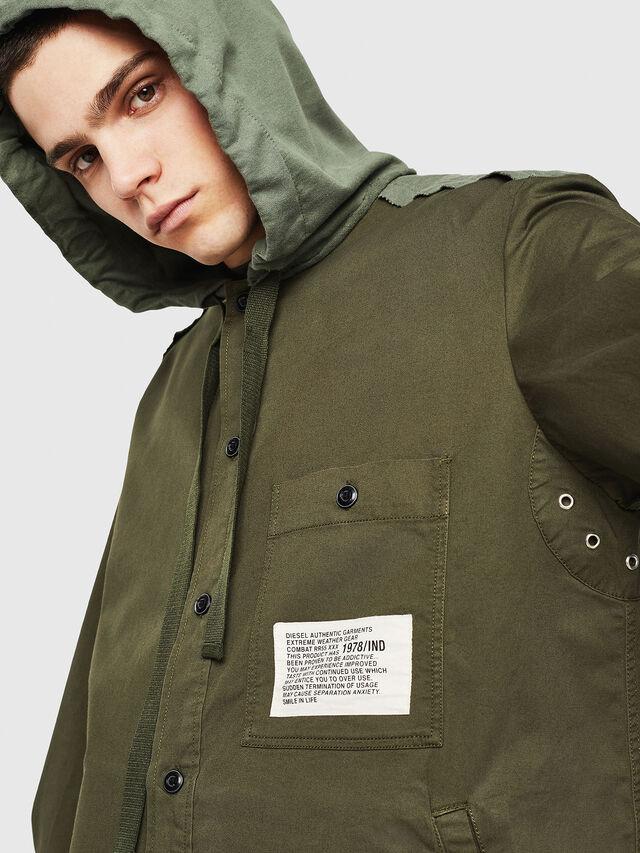 Diesel - S-EIKU, Military Green - Shirts - Image 3