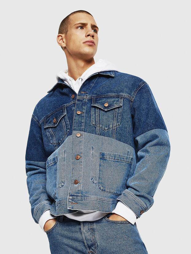 D-PUF, Medium blue - Denim Jackets