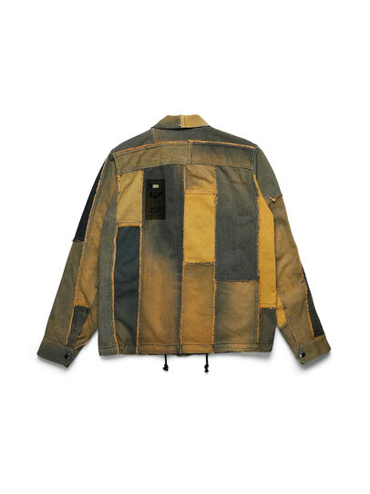 Diesel - D-COACINQUE5, Yellow - Denim Jackets - Image 2