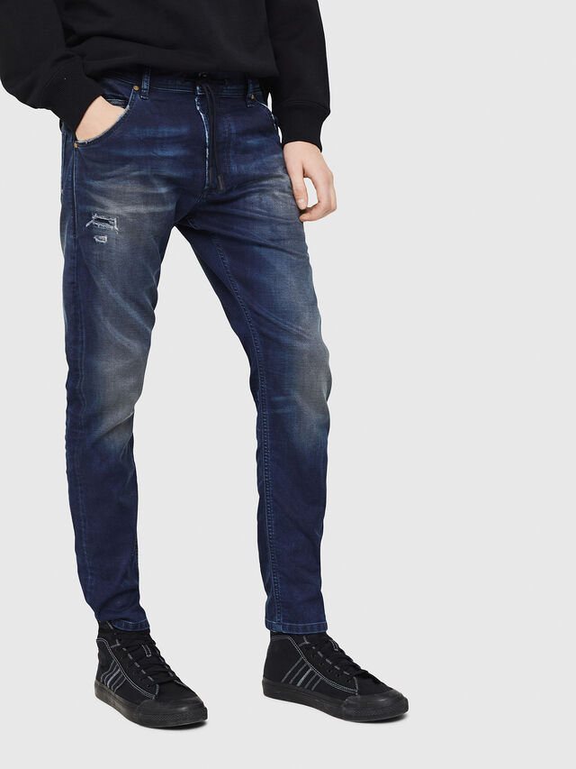 Diesel - Krooley JoggJeans 069GZ, Dark Blue - Jeans - Image 1