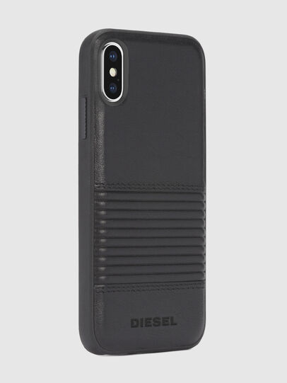 Diesel - BLACK LINED LEATHER IPHONE X CASE,  - Cases - Image 5