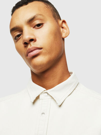 Diesel - D-BANDY-B, White - Denim Shirts - Image 3