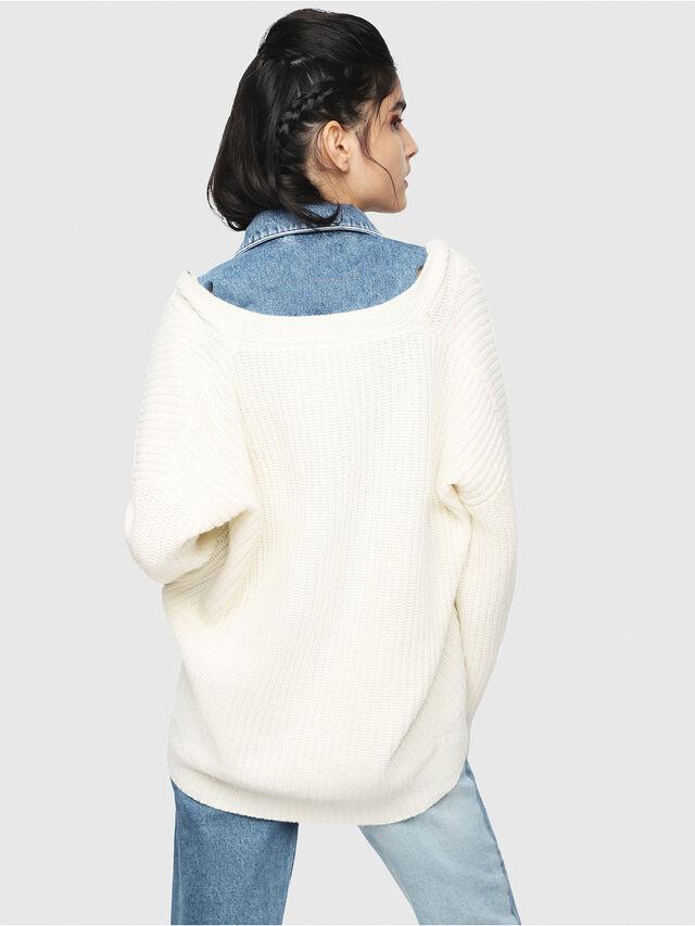 Diesel - M-DOUBLES, Cream - Knitwear - Image 2