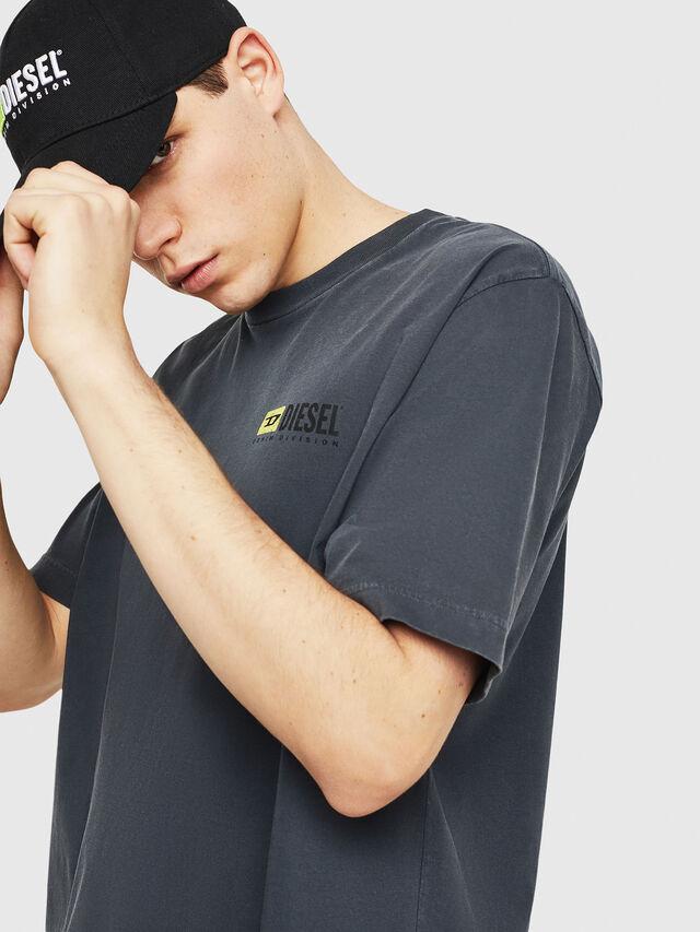 Diesel - DXF-T-JUST, Black/Dark grey - T-Shirts - Image 3