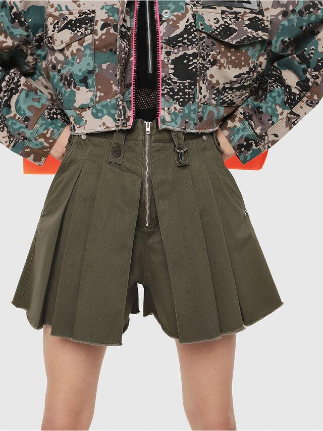 Diesel - S-EDEN, Military Green - Shorts - Image 1