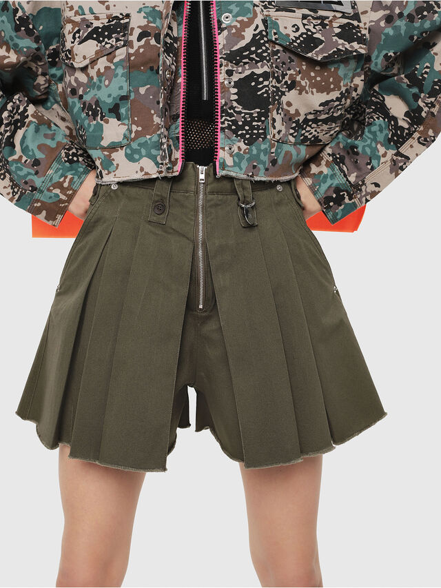 Diesel - S-EDEN, Military Green - Shorts - Image 1