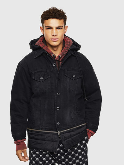 Diesel - D-SHER, Black - Winter Jackets - Image 1