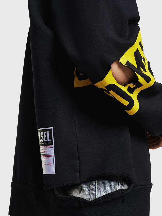 Diesel - S-BAY-HOLES, Black/Yellow - Sweaters - Image 3