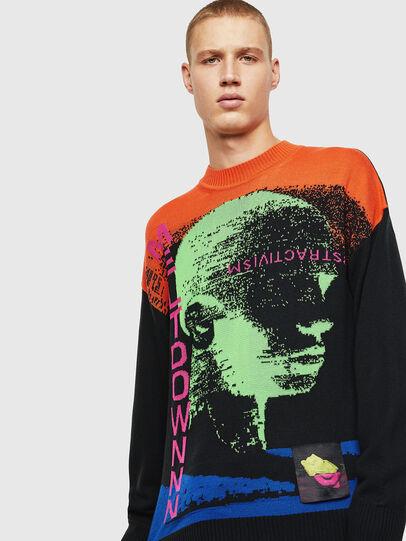 Diesel - K-MELTER, Multicolor/Black - Knitwear - Image 1