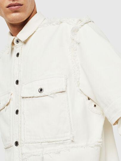 Diesel - D-KURTIS, White - Denim Shirts - Image 6