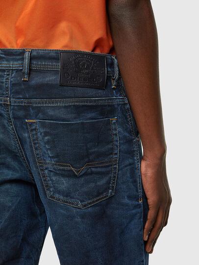 Diesel - D-KROOSHORT-Y JOGGJEANS, Dark Blue - Shorts - Image 4