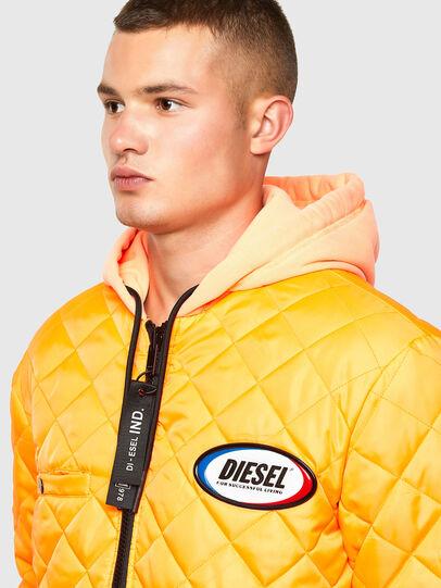 Diesel - W-DEMOREO, Brown - Winter Jackets - Image 4