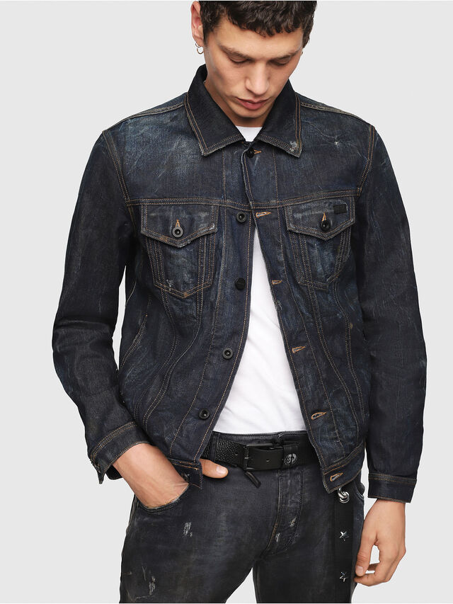 Diesel - CL-NHILL, Dark Blue - Denim Jackets - Image 4