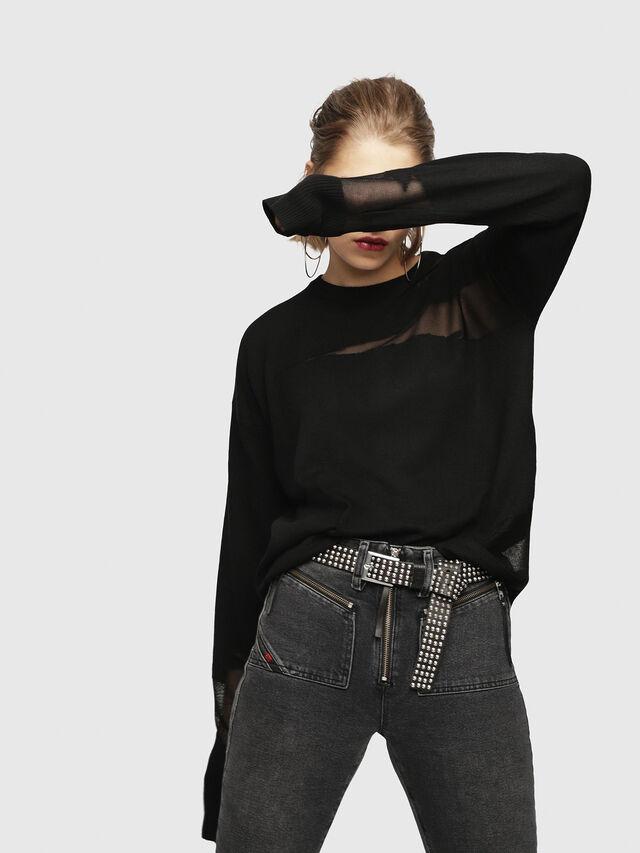 Diesel - M-ESCAPE, Black - Knitwear - Image 1