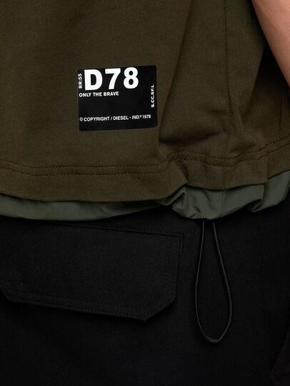 Diesel - T-ARMI, Olive Green - T-Shirts - Image 4