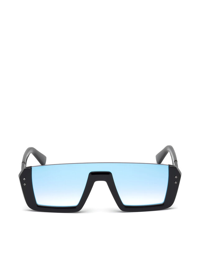 Diesel - DL0248, Bright Black - Sunglasses - Image 1