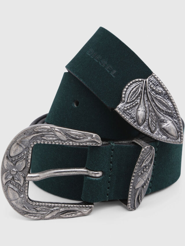 Diesel - B-CALTO, Dark Green - Belts - Image 2