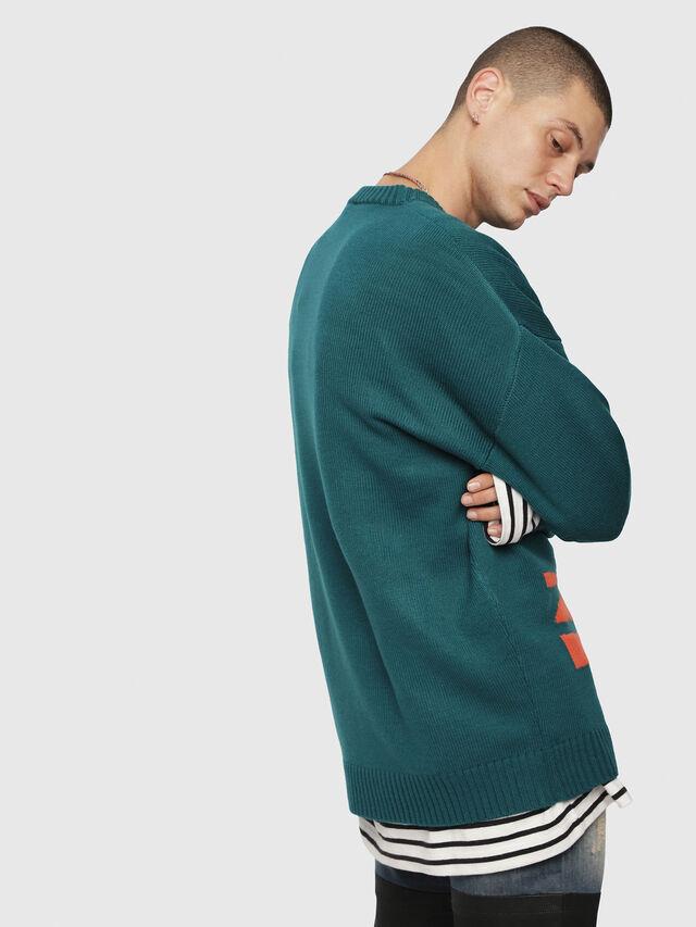 Diesel - K-LOGOX-A, Dark Green - Knitwear - Image 2