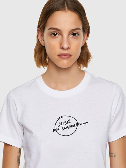 Diesel - T-SILY-B8, White - T-Shirts - Image 3