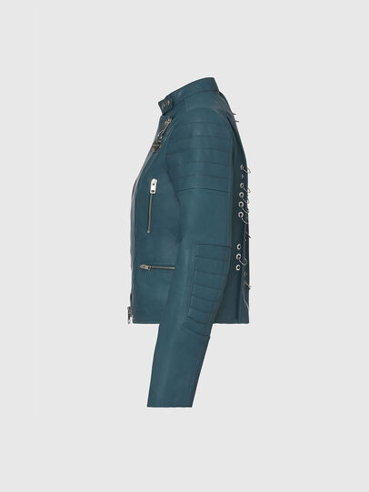 Diesel - L-MARS, Water Green - Leather jackets - Image 3
