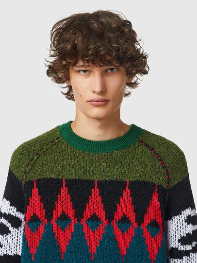 Diesel - K-GROVE, Green/Black - Knitwear - Image 3