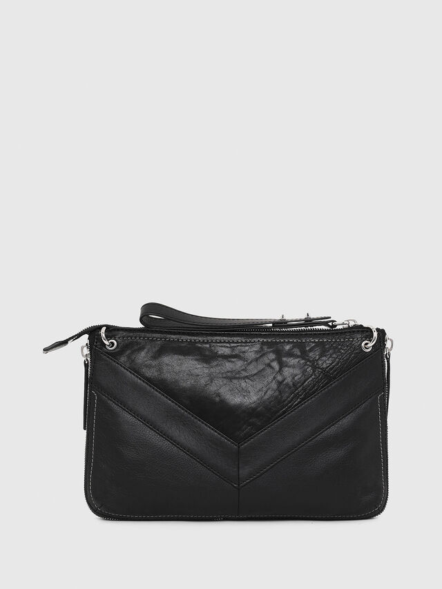 Diesel - LE-LITTSYY, Black Leather - Clutches - Image 2