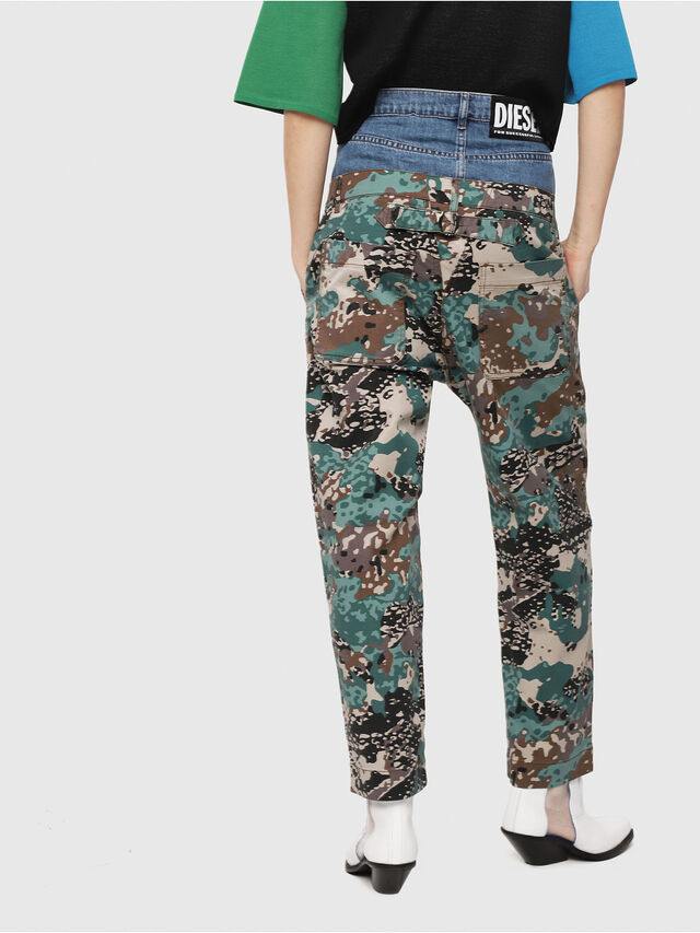Diesel - P-CALI-A, Green Camouflage - Pants - Image 2